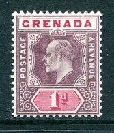 Grenada 1902 KEVII - Wmk. Crown CA - ½d Dull Purple & Carmine HM (SG 58) - Grenada (...-1974)