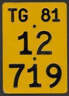 Velonummer Mofanummer Thurgau TG 81 - Number Plates