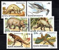 ROUMANIE 1993 Mi.nr: 4911-4916 Prähistorische Tiere Oblitérés - Used - Gebruikt - 1948-.... Républiques