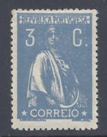 PORTUGAL 1917 CERES 3c ULTRAMARINE PERF 15*14 Nº 235c - 1910-... République