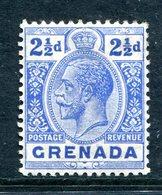 Grenada 1913-22 KGV - Wmk. Mult. Crown CA - 2½d Bright Blue HM (SG 94) - Grenada (...-1974)