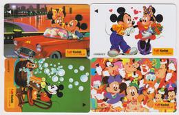 ENCART FOLDER 4 TC  NEUVES GPT SINGAPOUR - DISNEY & KODAK - Mickey Minnie Donald - SINGAPORE MINT Movie Phonecards - Disney