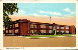 High School Beaufort North Carolina 1945 Curteich - Schools
