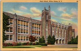 High School White Plains New York 1949 Curteich - Schools