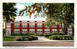 High School Napoleon Ohio 1945 Curteich - Schools