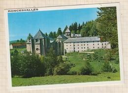 9AL951 RONCESVALLES VISTA GENERAL Y ABSIDE  2 SCANS - Navarra (Pamplona)