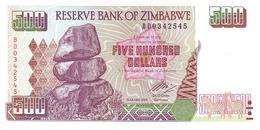 Zimbabwe P.11b 500 Dollars 2004   Unc - Simbabwe