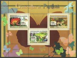 GUINEA 2007 FROGS & BUTTERFLIES WILDLIFE M/SHEET MNH - Guinea (1958-...)
