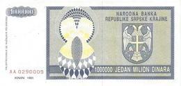 Croatia 1.000.000  Dinara 1993. P - R10 - Croatia