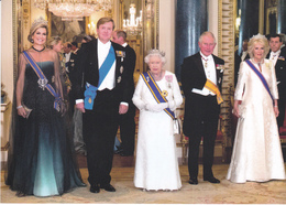 Queen Elizabeth II Charles Camilla Queen Maxima King Willem Alexander State Visit ( R 110 - Familles Royales