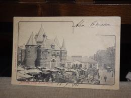 BRIEFKAART AMSTERDAM NIEUWMARKT ANIMATED 1901 AK CPA - Amsterdam