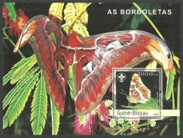 GUINEA BISSAU 2003 BUTTERFLIES SCOUTS SCOUTING M/SHEET MNH - Guinea-Bissau