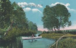 Tambov Russia, Boat In Reka Tsna River, Countryside Scene C1900s/10s Vintage Postcard - Russia