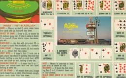 Rules Of '21' 'Black Jack' Alladin Hotel Casino Las Vegas Nevada, C1960s Vintage Postcard - Playing Cards