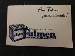 Buvard Ancien PILE FULMEN ACCUMULATEUR - Batterie