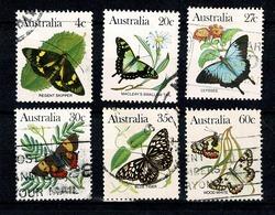 Australie 1983 Yv 825, 827/830, 832 (o) , Mi 839, 841/844, 846 (o) Used - 1980-89 Elizabeth II