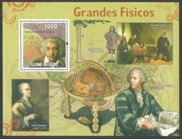 GUINEA BISSAU 2009 SCIENCE NEWTON GALILEO PHYSICS EINSTEIN M/SHEET MNH - Guinea-Bissau