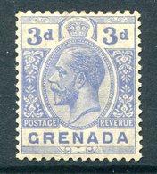 Grenada 1921-31 KGV - Wmk. Mult. Script CA - 3d Bright Blue HM (SG 121) - Grenada (...-1974)