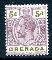 Grenada 1921-31 KGV - Wmk. Mult. Script CA - 5d Dull Purple & Sage-green HM (SG 124) - Grenada (...-1974)