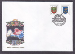 Latvia 1997 Coats Of Arms Of Latvian Towns And Municipalities FDC - Lettland