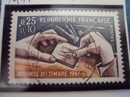 """60-69-timbre Oblitéré N°  1477 """"   Gravure D Un Timbre    """"    0.30 - Francia"""