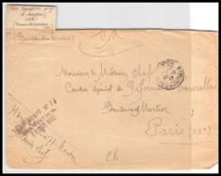 52214 Alpes Maritimes Menton 1917 Hopital Complementaire 77 Pensions Sante Guerre 1914/1918 War Devant De Lettre Front - Poststempel (Briefe)
