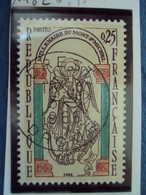 """60-69-timbre Oblitéré N°  1482  """"  Millénaire Mont St Michel     """"     0.30 - Francia"""