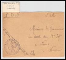 52307 Loire St Etienne Hopital Complementaire 97 Sante Guerre 1914/1918 War Devant De Lettre Front Cover - Postmark Collection (Covers)