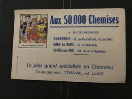 BUVARD ANCIEN AUX 50000 CHEMISES DUNKERQUE MALO LES BAINS ST POL SUR MER - Textile & Clothing