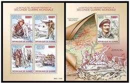 Guinea 2015 World War II Klb + S/s MNH - Militaria