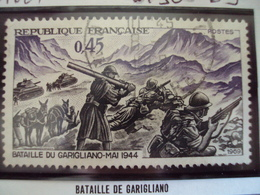 """60-69-timbre Oblitéré N° 1601   """"  Bataille De Garigliano     """"     0.50 - France"""