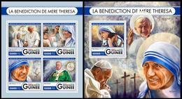 Guinea 2016 Mother Teresa Klb + S/s MNH - Mère Teresa