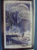 """60-69-timbre Oblitéré N°  1603 """"   Debarquement En Normandie    """"     0.50 - France"""