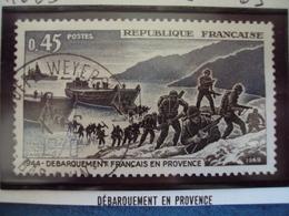 """60-69-timbre Oblitéré N°1605""""     Debarquement En Provence     """"             0.50 - Francia"""