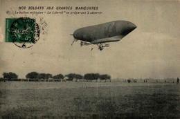 """Le Ballon Militaire """"Le Liberté"""" Se Préparant à Atterrir - Dirigeables"""
