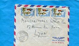 Marcophilie-lettreTCHAD -pour Françe-cad- Baibokoum-196-3- Stamps-N°103 Armée Tchadienne - Tchad (1960-...)