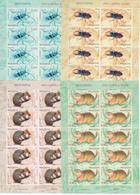 2019 , Moldova  Moldavie  Moldawien  Moldau  Red Book Insects  Rodents  Fauna , 4 Sheetlets , MNH - Moldova