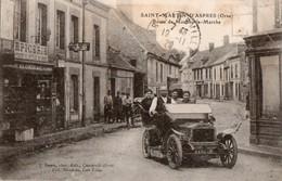 SAINT-MARTIN D'ASPRES - Route De Moulins La Marche (Epicerie Blondeau - Voiture Décapotable) - Défaut - France