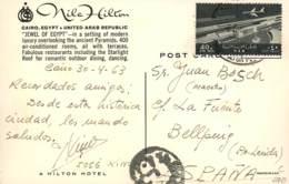 EGYPT. Card From Cairo To Bellpuig (Spain), 3/4/1963. Postal History. - Egipto