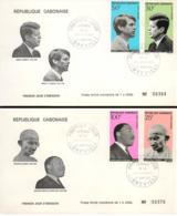 GABON. 2 Covers First Day Cover, Year 1969. Postal History. - Gabón (1960-...)