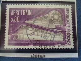 """70-79  -timbre Oblitéré N°   1631 """"   Aérotrain    """"      0.60 - Usados"""
