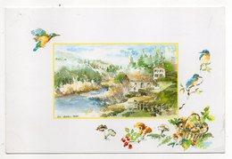 1991--illustrateur D'après Aquarelle De Nicole Massiaux -Martins-pêcheurs (oiseaux)--timbre --cachet QUEAUX-MOUSSAC--86 - Illustrateurs & Photographes