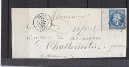 FRANCE 14 AVEC FILET D'ENCADREMENT OBL PC 1673 LAVAL SUR DEVANT DE LETTRE MAYENNE - 1849-1876: Période Classique