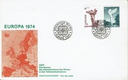Schweden Sverige Sweden 1974 - Europa - Bror Marklund - Pablo Picasso - MiNr 852-853 FDC - 1974