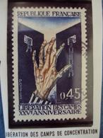 """70-79  -timbre Oblitéré N°   1648 """"   Libération Des Camps De Concentration    """"      0.25 - Francia"""
