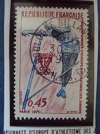 """70-79  -timbre Oblitéré N° 1650   """"  Championnat Athletisme Juniors     """"   0.50 - Francia"""