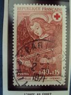 """70-79  -timbre Oblitéré N°  1662  """"  Croix Rouge, L'ange Au Fouet     """"      0.50 - France"""