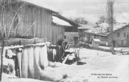 74 - CPA   ST GERVAIS LES BAINS Un Moulin En Hiver RARE - Saint-Gervais-les-Bains