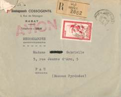MAROC FRANÇAISE. Cover From Rabat To Pau (France), 6/10/1959. Air Mail. Postal History. - Marruecos (1956-...)