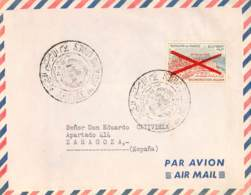 MAROC FRANÇAISE. Cover To Zaragoza, First Day Cover. Year 1963. Postal History. - Marruecos (1956-...)
